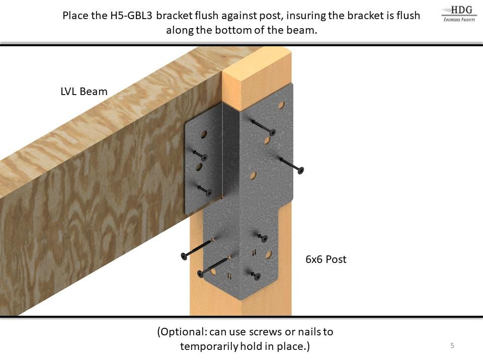 H5 Series: Beam to Post Brackets